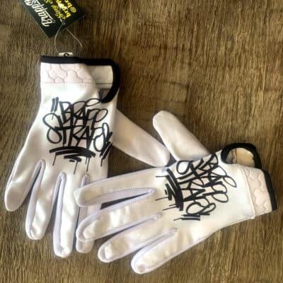 Wedding Crasher Leather Palm Street Bike Gloves by Brapp Straps